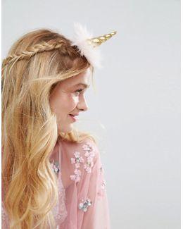 Fluffy Unicorn Hair Clip