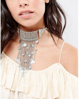 Statement Festival Coin Choker Necklace