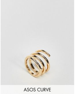 Sleek Swirl Ring