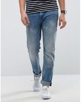 Slim Fit Jean In Medium Blue Wash