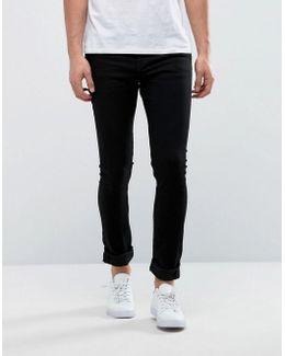 Super Extreme Skinny Black Jeans