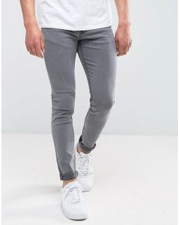 Skinny Washed Gray Jeans