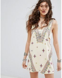 Never Been Embroidered Mini Dress
