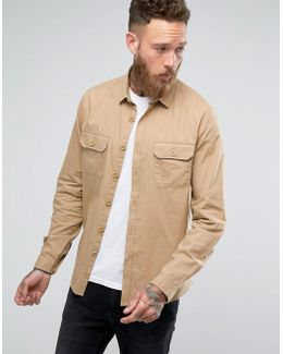 Double Pocket Overshirt In Stone