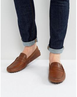 Driving Shoes In Brown Leather