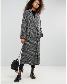 Maxi Coat In Heritage Check