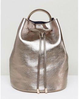 Rose Gold Bucket Backpack