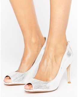 Peep Toe High Heel Court Shoe