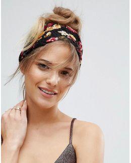 Floral Plisse Headband