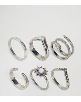 Exclusive Pack Of 6 Snake Charmer Rings