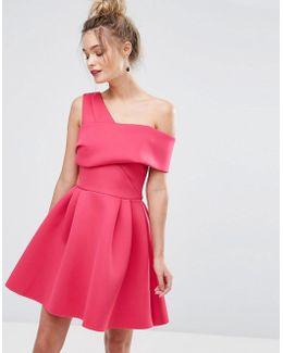 Cross Front Bardot Scuba Prom Dress