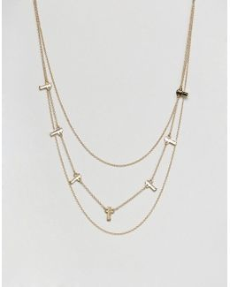 Bars Multirow Necklace