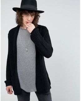 Ultimate Knitted Cardigan In Black