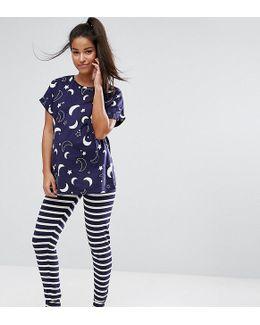 Moon & Star T-shirt & Legging Pj Set