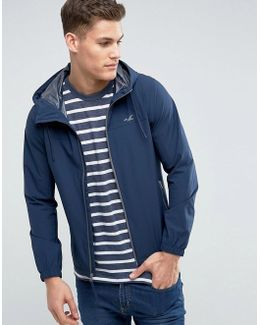 Hooded Windbreaker In Navy