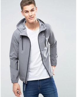 Hooded Windbreaker In Grey