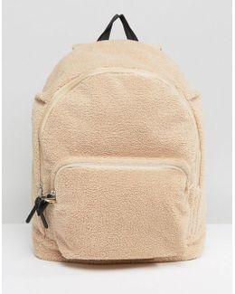 Backpack In Cream Borg