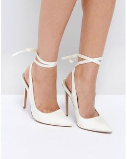 Pipe Down Bridal Pointed High Heels