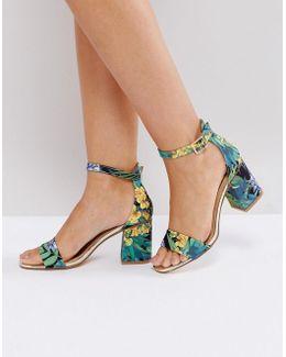 Printed Block Heel Sandal