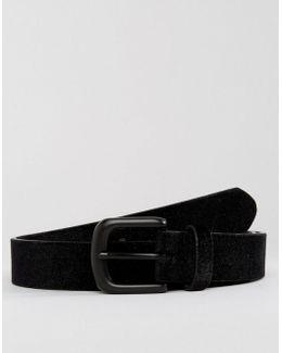 Smart Slim Belt With Black Velvet