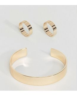 Exclusive Pack Of 3 Sleek Ring And Cuff Pack