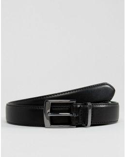 Smart Slim Belt With Dark Green Contrast Internal & Metal Keeper