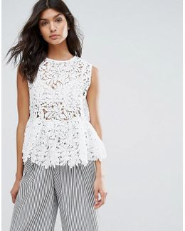 Broderie Lace Frill Top