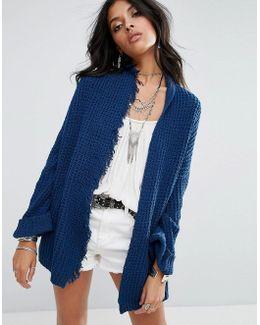 I'll Be Around Silk Mix Knit Cardigan