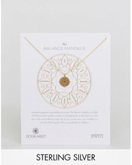 Gold Plated Small Balance Mandala Reminder Necklace