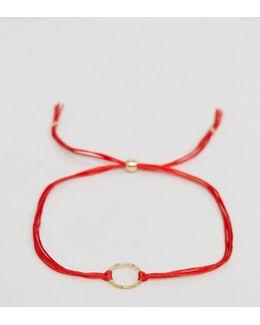Gold Plated Karma Sparkle Cord Reminder Bracelet