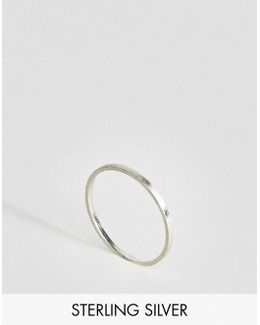 Sterling Silver Thin Flat Band Ring