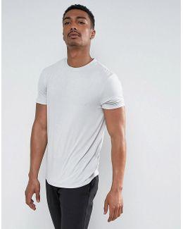 T-shirt In Fine Drape Viscose Fabric In Pale Green