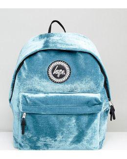 Exclusive Teal Velvet Backpack