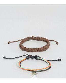 Pineapple Skull Bracelet In Pack