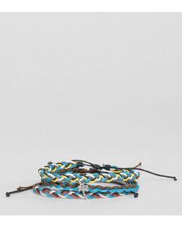Palm Tree Wax Cord Bracelets In 3 Pack