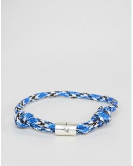 Rope Cord Bracelet In Blue