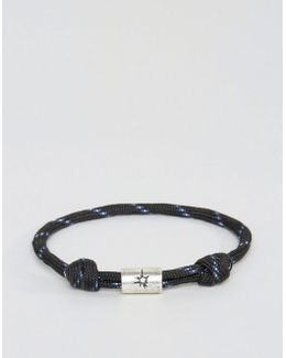 Rope Cord Bracelet In Black