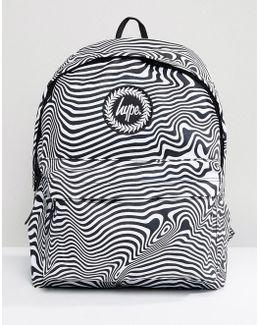 Warped Zebra Print Backpack