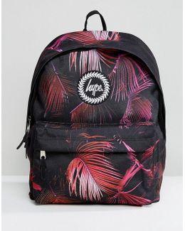 Violet Garden Print Backpack