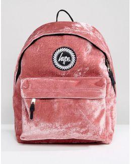 Exclusive Dusky Pink Velvet Backpack