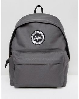 Exclusive Script Strap Backpack In Grey