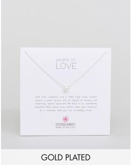 Gold Filled Pearls Of Love Necklace