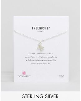 Sterling Silver Unicorn Reminder On Friendship Bracelet Card