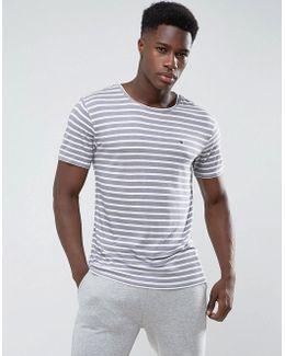 Tommy T-shirt Stripe Pocket Regular Fit In White