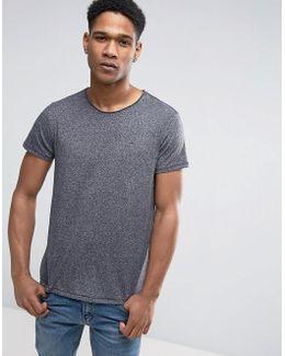 Tommy T-shirt Flag Logo In Black Marl