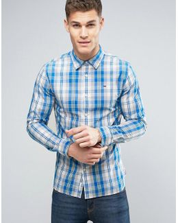 Tommy Shirt Check Regular Fit In Blue