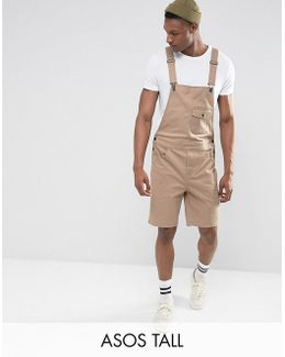 Tall Short Dungarees In Stone