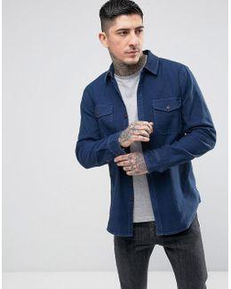 Belstone Overshirt Chambray Shirt Blue