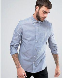 Denim Regular Fit Plain Oxford Shirt