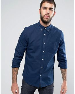 Plain Regular Fit Oxford Shirt